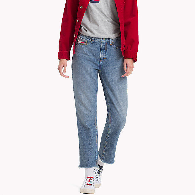 77dc194e 90s Mid-Wash Mom Jeans | Tommy Hilfiger