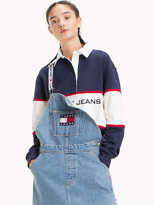 TOMMY JEANS 90s Rugby Shirt - PEACOAT - TOMMY JEANS TOMMY JEANS Capsule - main image