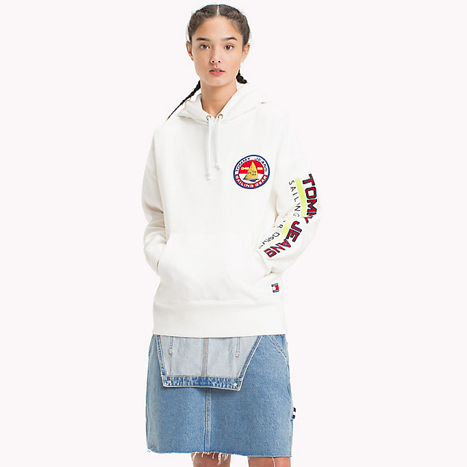 TOMMY JEANS 90s Sailing Hoodie - BARBADOS CHERRY - TOMMY JEANS Women - main image