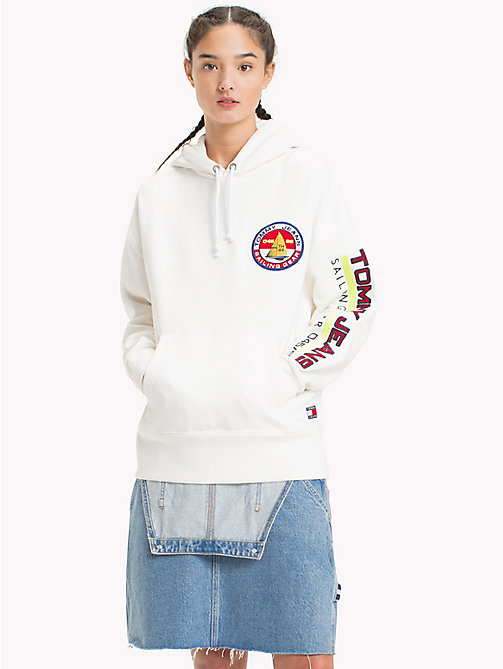 TOMMY JEANS 90s sailing hoodie - BRIGHT WHITE - TOMMY JEANS Sweatshirts & Hoodies - main image