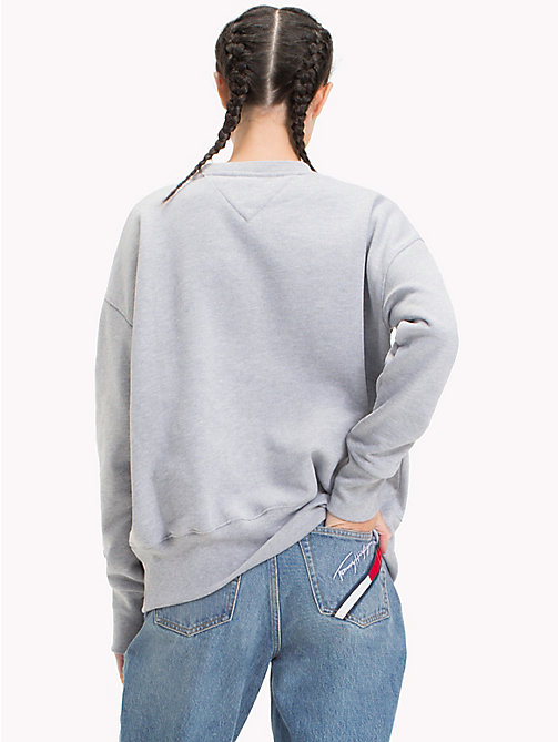TOMMY JEANS Sweat logo Sailing 90s - LIGHT GREY HTR - TOMMY JEANS Capsule - image détaillée 1