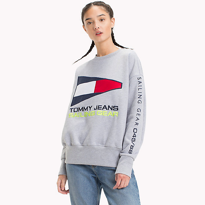 TOMMY JEANS 90s Sailing Logo Sweatshirt - SURF THE WEB - TOMMY JEANS Women - main image