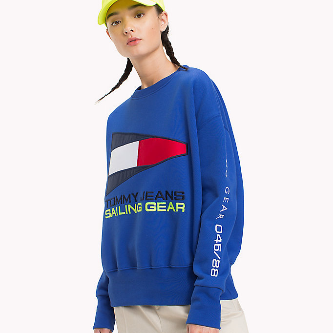 TOMMY JEANS 90s Sailing Logo Sweatshirt - BRIGHT WHITE - TOMMY JEANS Women - detail image 2