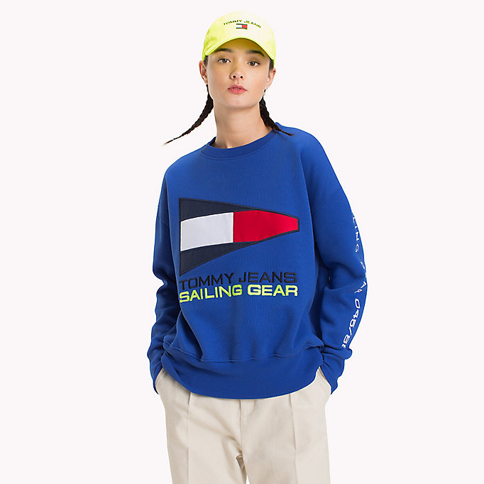 TOMMY JEANS 90s Sailing Logo Sweatshirt - BRIGHT WHITE - TOMMY JEANS Women - main image
