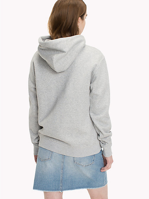 TOMMY JEANS Худи с логотипом Tommy Jeans - LIGHT GREY HTR BC03 - TOMMY JEANS Свитшоты И Худи - подробное изображение 1