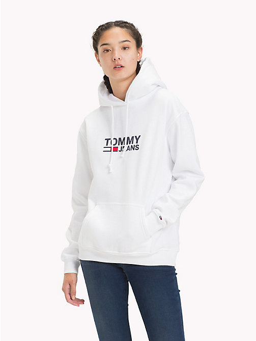 TOMMY JEANS Sweat à capuche logo Tommy Jeans - BRIGHT WHITE - TOMMY JEANS Sweats - image principale