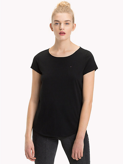 TOMMY JEANS Organic Cotton T-Shirt - TOMMY BLACK - TOMMY JEANS Sustainable Evolution - main image