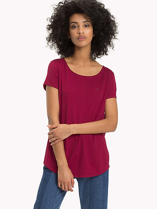 TOMMY JEANS Organic Cotton T-Shirt - RUMBA RED - TOMMY JEANS Sustainable Evolution - main image