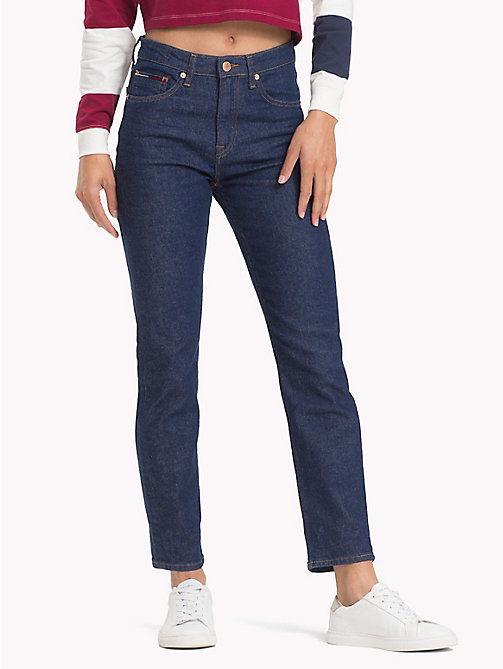 TOMMY JEANS High Rise Slim Fit Jeans - TOMMY CLASSIC RINSE - TOMMY JEANS Slim Fit Jeans - main image