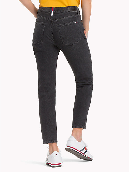 TOMMY JEANS Izzy Cropped Slim Fit Jeans - NEW TOMMY JEANS BLK - TOMMY JEANS Slim Fit Jeans - detail image 1