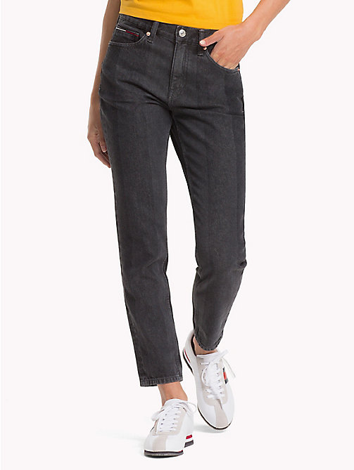 TOMMY JEANS Izzy Cropped Slim Fit Jeans - NEW TOMMY JEANS BLK - TOMMY JEANS Slim Fit Jeans - main image