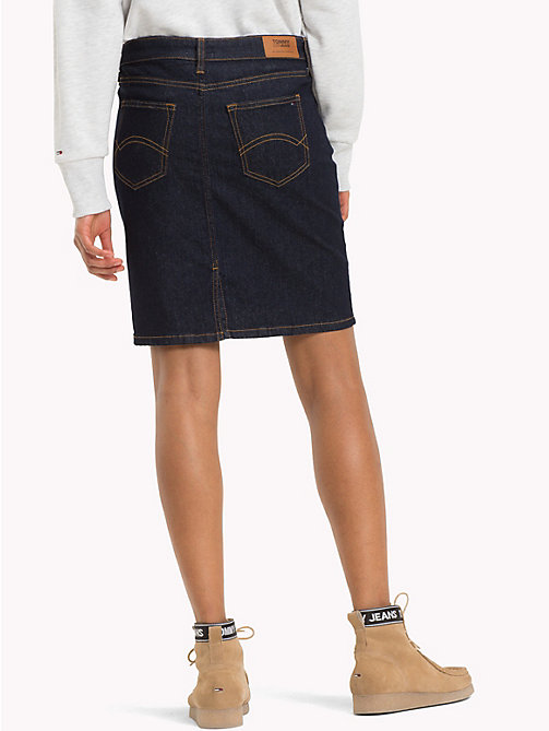 TOMMY JEANS Short Denim Skirt - RAY RINSE BLUE STR - TOMMY JEANS Trousers & Skirts - detail image 1