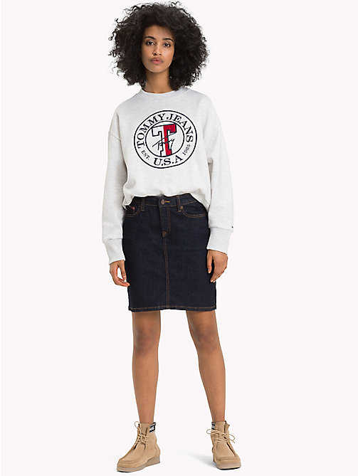 TOMMY JEANS Short Denim Skirt - RAY RINSE BLUE STR - TOMMY JEANS Trousers & Skirts - main image