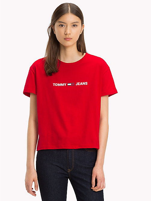 TOMMY JEANS Cropped Logo T-Shirt - SAMBA - TOMMY JEANS Tops - main image