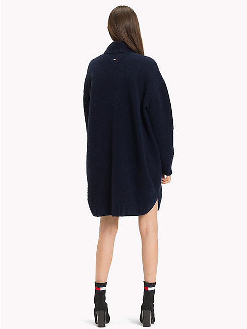TOMMY JEANS Long Sleeve Jumper Dress - BLACK IRIS - TOMMY JEANS Dresses & Skirts - detail image 1