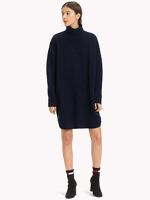 TOMMY JEANS Long Sleeve Jumper Dress - BLACK IRIS -  Mini - main image