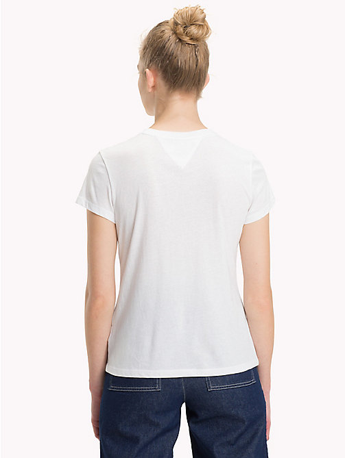 TOMMY JEANS Star Logo T-Shirt - BRIGHT WHITE - TOMMY JEANS Sustainable Evolution - detail image 1