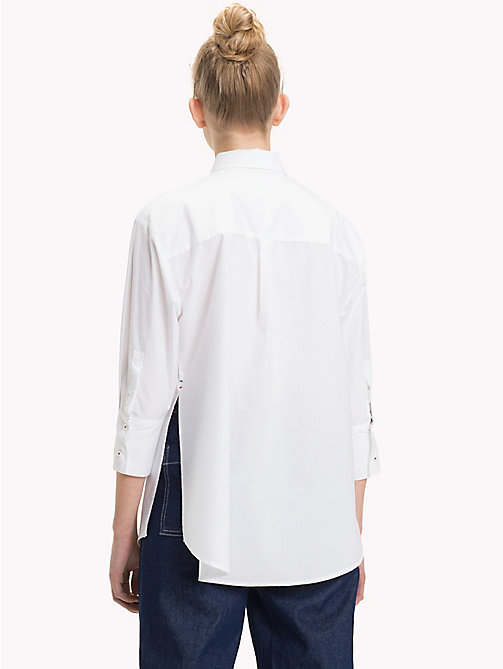 TOMMY JEANS Oversized Cotton Shirt - BRIGHT WHITE - TOMMY JEANS Tops - detail image 1