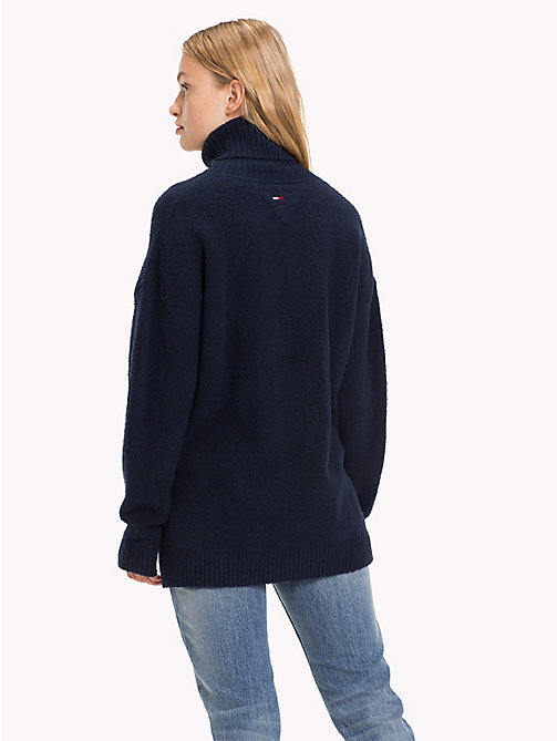 TOMMY JEANS Oversized Turtleneck Jumper - BLACK IRIS - TOMMY JEANS Knitwear - detail image 1