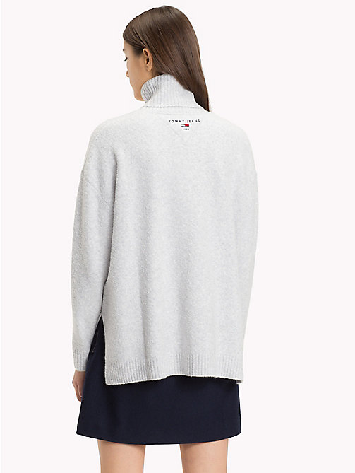 TOMMY JEANS Oversized Turtleneck Jumper - PALE GREY HEATHER - TOMMY JEANS Knitwear - detail image 1