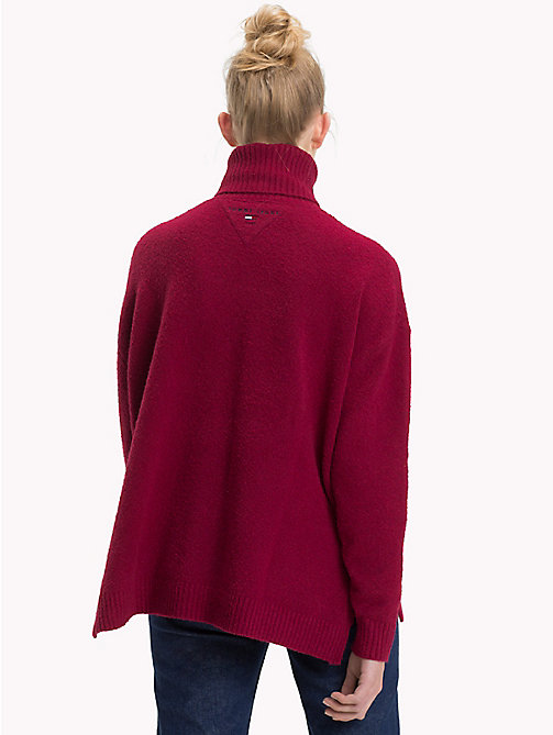 TOMMY JEANS Oversized Turtleneck Jumper - RUMBA RED - TOMMY JEANS Knitwear - detail image 1