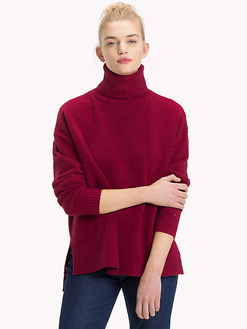 TOMMY JEANS Oversized Turtleneck Jumper - RUMBA RED - TOMMY JEANS Knitwear - main image