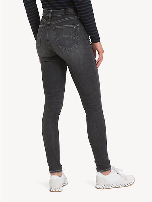 TOMMY JEANS Faded Mid Rise Skinny Jeans - SKY GREY STRETCH - TOMMY JEANS Jeans - detail image 1