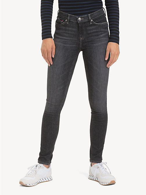 TOMMY JEANS Faded Mid Rise Skinny Jeans - SKY GREY STRETCH - TOMMY JEANS Jeans - main image