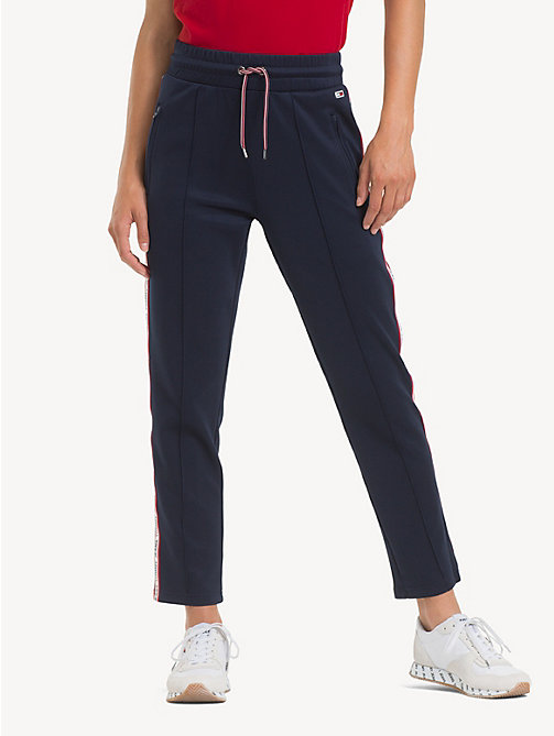 TOMMY JEANS Slim Fit Tracksuit Bottoms - BLACK IRIS - TOMMY JEANS Trousers & Skirts - main image