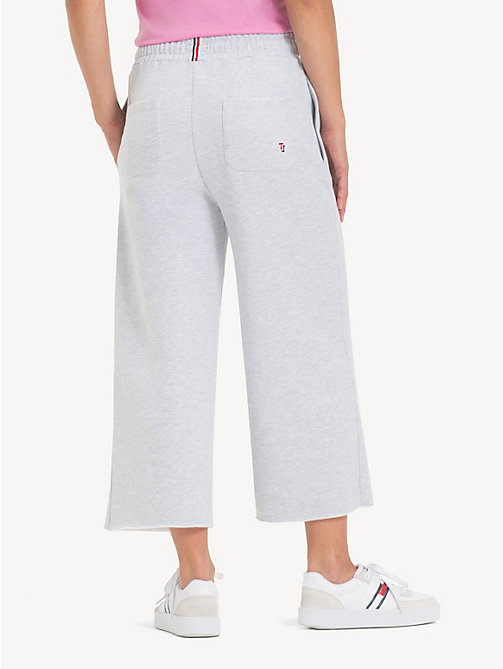TOMMY JEANS Cropped Drawstring Joggers - LT GREY HTR - TOMMY JEANS Trousers & Skirts - detail image 1