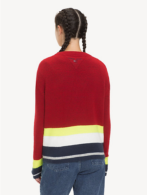TOMMY JEANS Regular Fit Stripe Jumper - SAMBA MULTI - TOMMY JEANS Knitwear - detail image 1