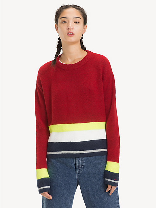 TOMMY JEANS Gestreifter Regular Fit Pullover - SAMBA MULTI - TOMMY JEANS Pullover & Strickjacken - main image
