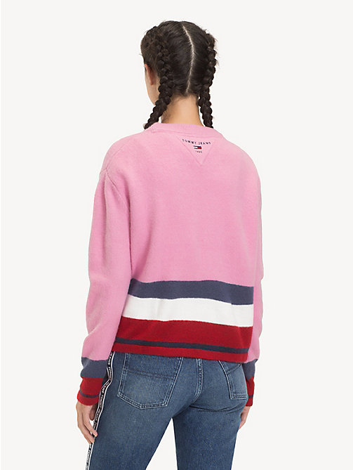 TOMMY JEANS Regular Fit Stripe Jumper - LILAC CHIFFON / MULTI - TOMMY JEANS Knitwear - detail image 1