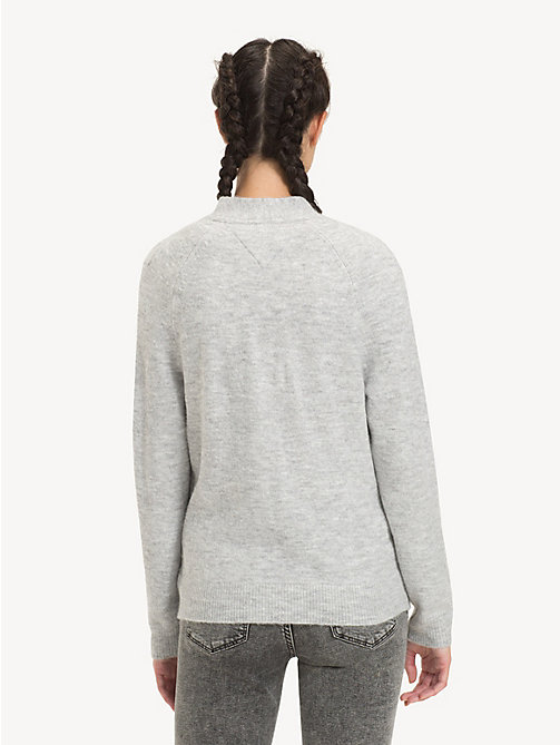 TOMMY JEANS Relaxed Fit Cardigan mit V-Ausschnitt - LT GREY HTR - TOMMY JEANS Pullover & Strickjacken - main image 1