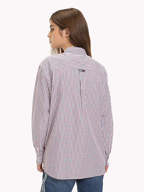 TOMMY JEANS Stripe Boyfriend Shirt - BLACK IRIS / MULTI - TOMMY JEANS Tops - detail image 1
