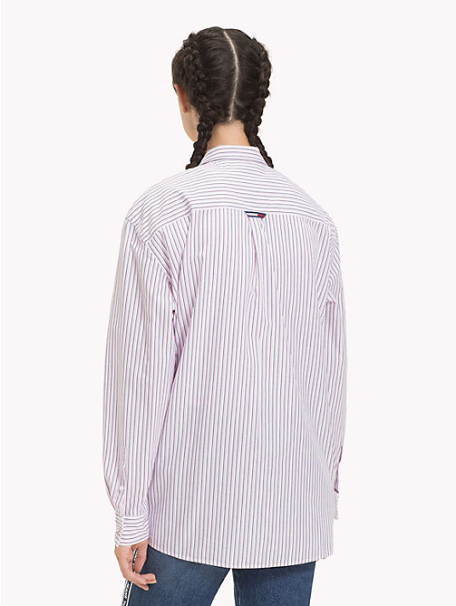 TOMMY JEANS Stripe Boyfriend Shirt - LILAC CHIFFON / MULTI - TOMMY JEANS Tops - detail image 1