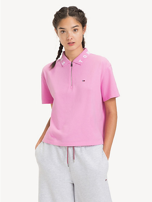 TOMMY JEANS Poloshirt mit Logo-Kragen - LILAC CHIFFON - TOMMY JEANS Tops - main image