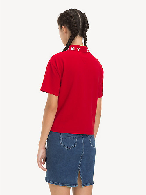 TOMMY JEANS Logo Collar Polo Shirt - SAMBA - TOMMY JEANS Tops - detail image 1