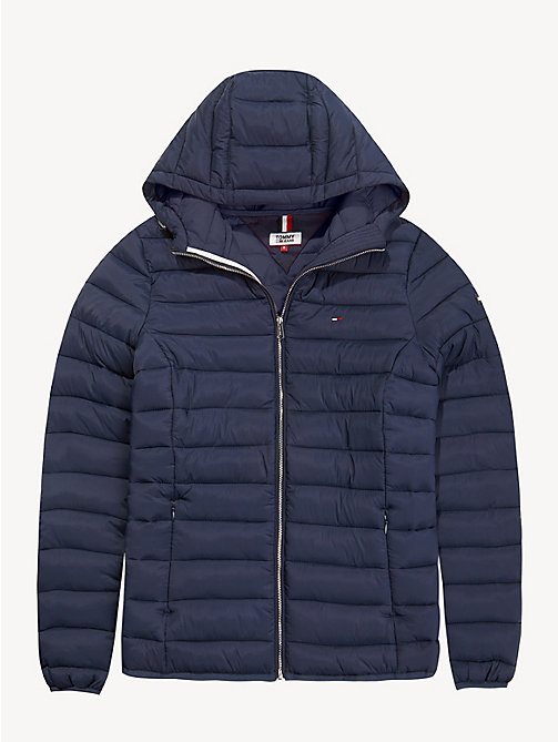TOMMY JEANS Quilted Hooded Jacket - BLACK IRIS - TOMMY JEANS Coats & Jackets - detail image 1