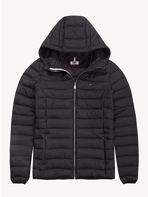 TOMMY JEANS Quilted Hooded Jacket - TOMMY BLACK - TOMMY JEANS Coats & Jackets - detail image 1