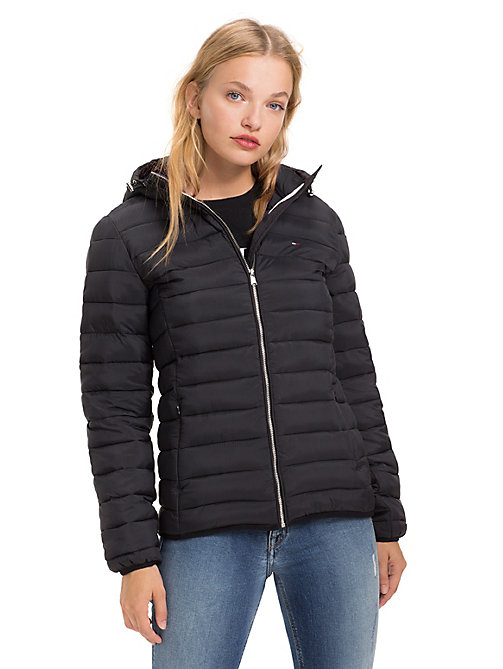 TOMMY JEANS Quilted Hooded Jacket - TOMMY BLACK - TOMMY JEANS Coats & Jackets - main image