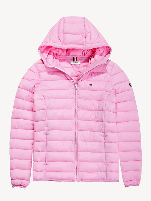 TOMMY JEANS Quilted Hooded Jacket - LILAC CHIFFON - TOMMY JEANS Coats & Jackets - detail image 1