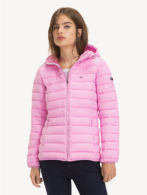TOMMY JEANS Quilted Hooded Jacket - LILAC CHIFFON - TOMMY JEANS Coats & Jackets - main image