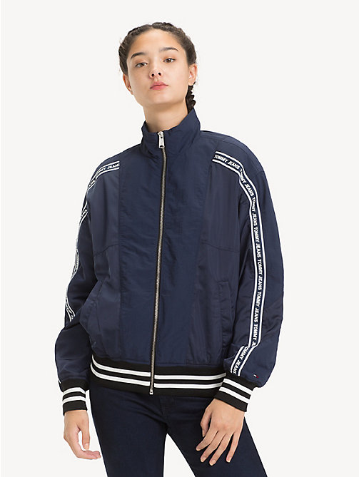 TOMMY JEANS Relaxed Fit Bomber Jacket - BLACK IRIS - TOMMY JEANS Coats & Jackets - main image
