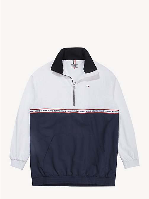 TOMMY JEANS Colour-Blocked Popover - BLACK IRIS / CLASSIC WHITE - TOMMY JEANS Coats & Jackets - detail image 1