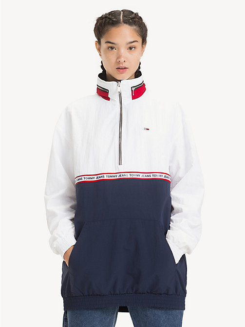 TOMMY JEANS Colour-blocked anorak - BLACK IRIS / CLASSIC WHITE - TOMMY JEANS Jassen & Jacks - main image