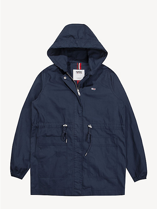 TOMMY JEANS Hooded Parka Jacket - BLACK IRIS - TOMMY JEANS Coats & Jackets - detail image 1