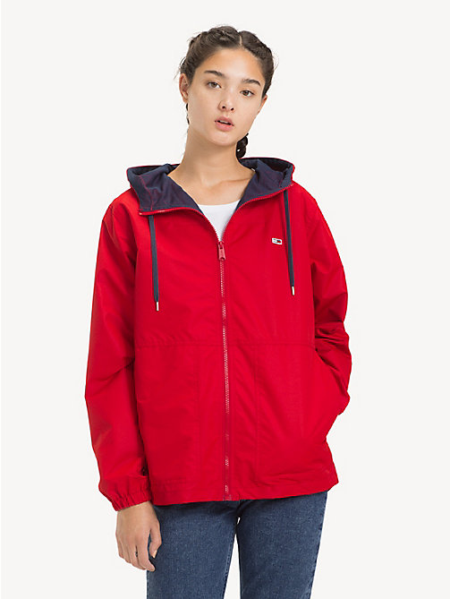 TOMMY JEANS Hooded Windbreaker Jacket - SAMBA - TOMMY JEANS Sustainable Evolution - main image