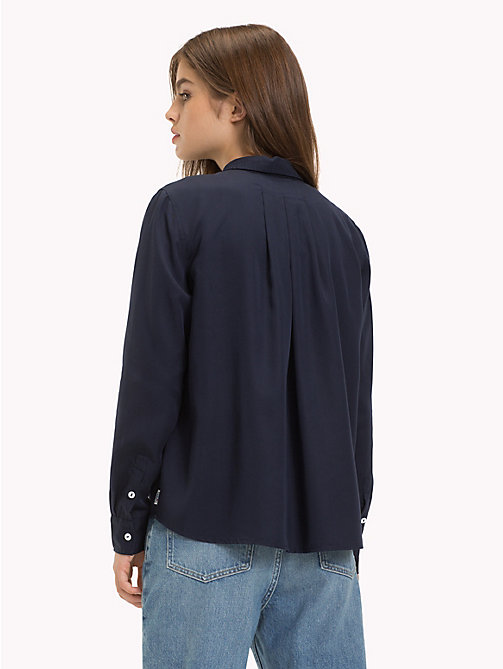 TOMMY JEANS Button-Through Blouse - BLACK IRIS - TOMMY JEANS Tops - detail image 1