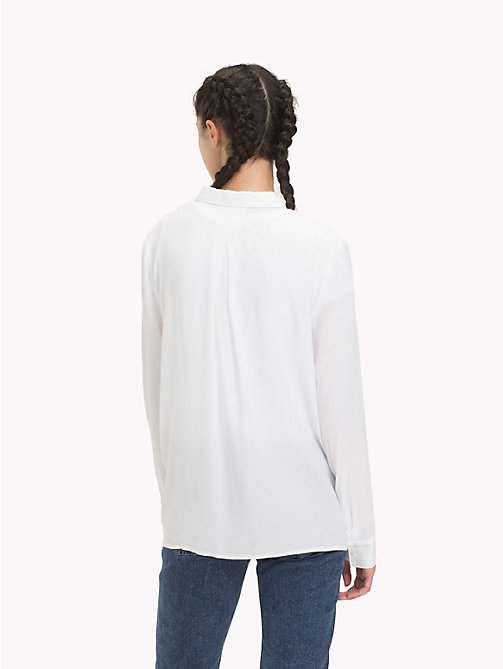 TOMMY JEANS A-line poplin blouse - CLASSIC WHITE - TOMMY JEANS Tops - detail image 1